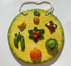 Фрукты и овощи. Сделано из соленого теста