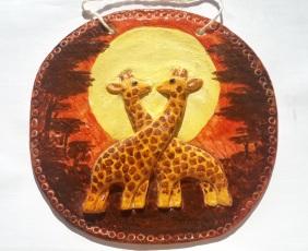 Жирафы. Сделано из соленого теста