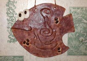 Кофейная рыба из соленого теста