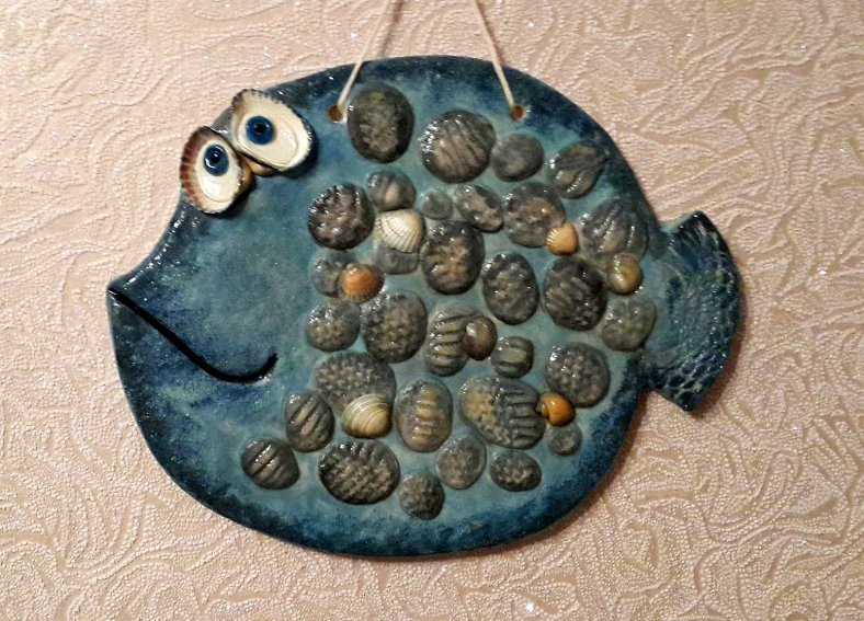 Рыба с камешками из соленого теста